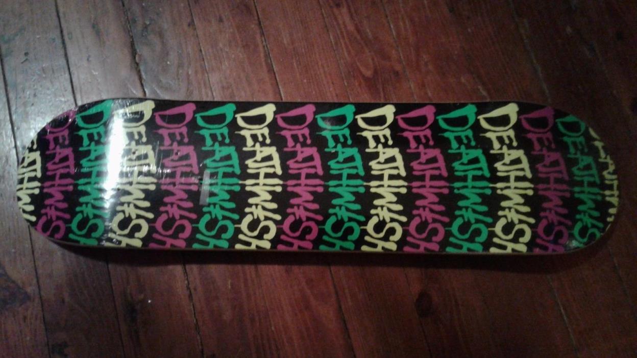 Death Wish - Spray Paint -  Skateboard Deck - New still in wrap