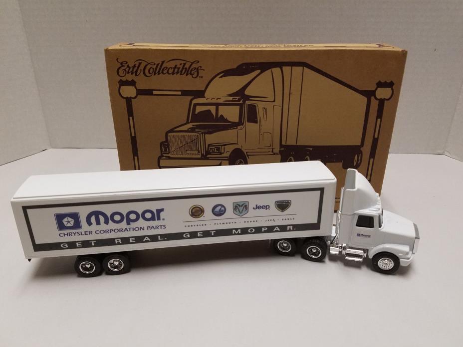 ERTL DIE CAST MOPAR SEMI TRUCK TRAILER WHITE GMC CAB ORIGINAL BOX NIB