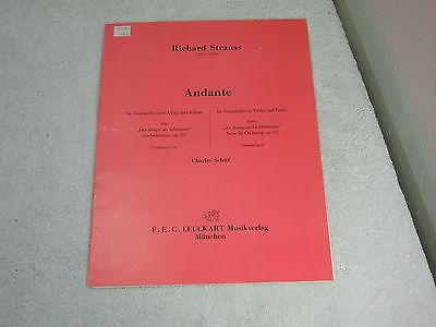 Richard Strauss (1864-1949) Andante ~ Charles Schiff ~ F.E.C. Leuckart Musikverl