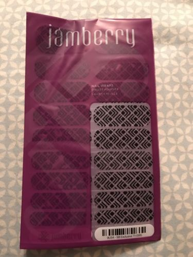 Jamberry Stylebox September 2015 Black Trendy, Full Sheet, New