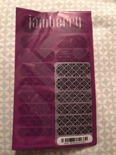 Jamberry Stylebox September 2015 Black Trendy, Full Sheet, New
