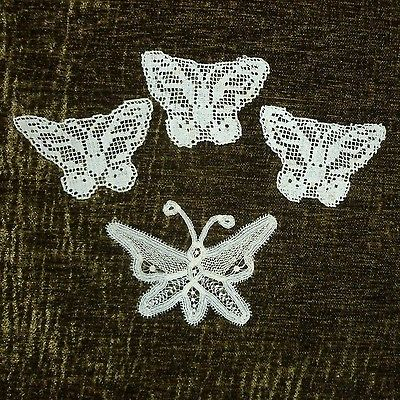 Antique Hand Made Lace Butterflies
