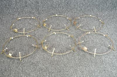 Set Of 6 Wire Wall Plate Hangers Brass 7