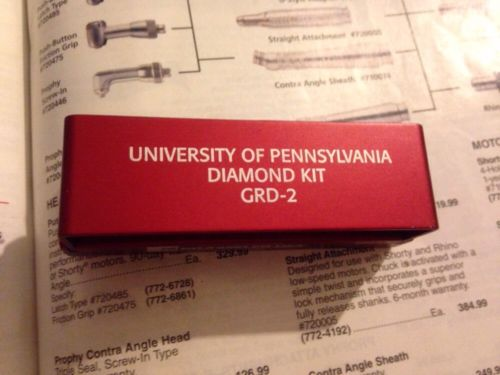University Of Pennsylvania Diamond Kit Dental Burs