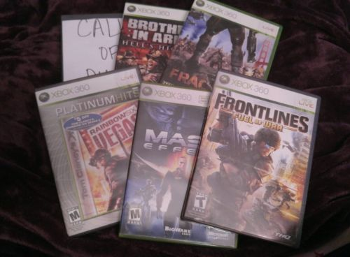 Lot of Six XBox 360 Games Great Condition Most Games Never Played