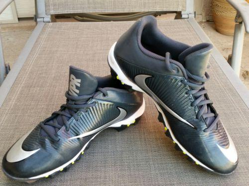 Nike Mens VPR Football Baseball Soccer Cleats SZ 10.5 Gray/Silver
