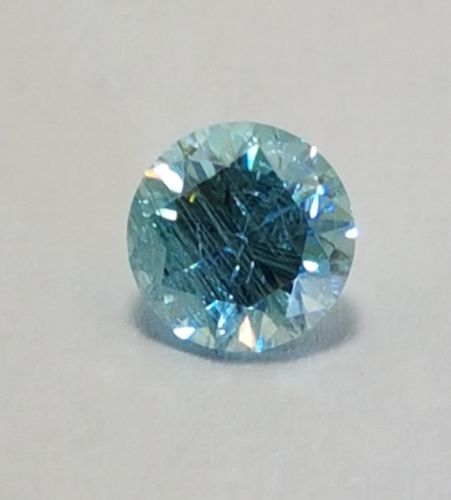 Fiery 2.20 ct 8.15 mm SI1 Fancy Blue Color Round Cut Loose Moissanite