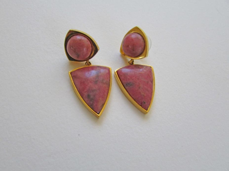Lizzie Fortunato Elegant Outlaw Earrings -Raspberry
