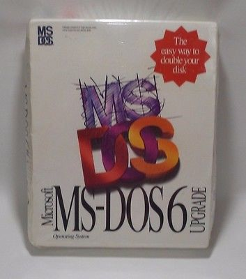 Microsoft MS-DOS 6 Upgrade 3.5 HD High Density Disks Operating System 1993