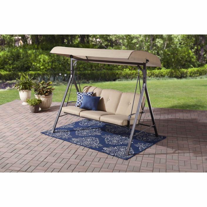 Patio Swing With Canopy Furniture Clearance Garden Porch Deck 3 Seat Cushion New