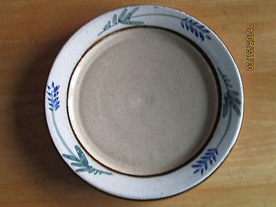 Pottery Bread Dish with Painted Flowers