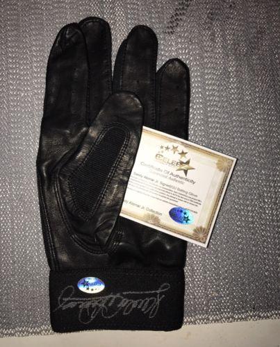 Sandy Alomar Jr Signed Game Used Rawlings Batting Glove Autographs COA