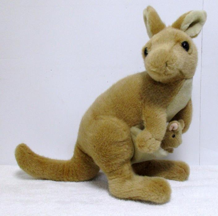 Dakin Mama Kangaroo and Joey in Pouch Plush Stuffed Animal