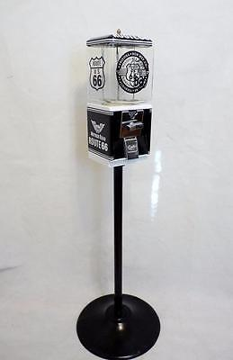 vintage Northwestern gumball machine + stand Route 66 man cave