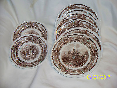 J. & G.MEAKIN  AMERICANA STYLE IRONSTONE   DISHES 3 SAUCERS -6 DESSERT DISHES