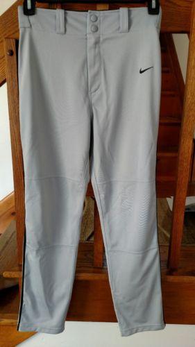 NIKE DRI FIT SWINGMAN  BOYS GRAY/BLACK PIPED BASEBALL PANTS SIZE XL