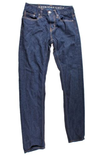 American Eagle Men's Dark Blue Skinny Jeans Size 28X30