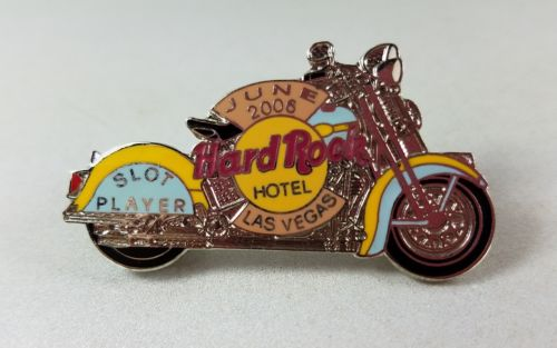 Hard Rock Hotel Las Vegas June 2006 Motorcycle Bike Slot Player Pin Limited