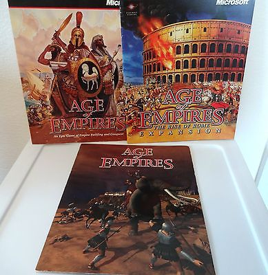 Age of Empires/Rise of Rome Manual ONLY Chart Need These for your Games? No CDs
