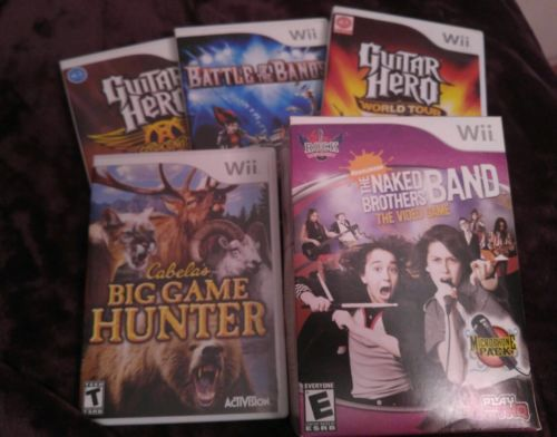 Lot of Five Wii Games Great Condition Most Games Never Played