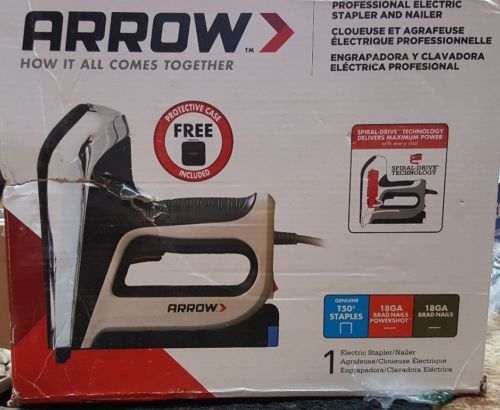 New Professional Electric Durable Quality 6 in. Stapler and Brad Nailer #T50AC-R