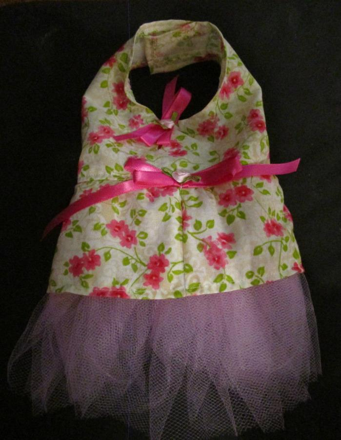 XS female Dog Dress [pinkroses] Cotton hand crafted