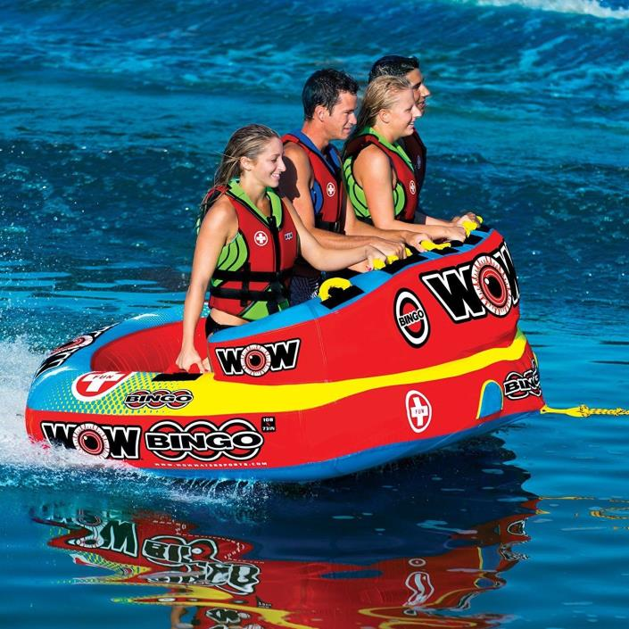 4-Person Cockpit Ski Tube Watersports Boat Beach Water Sports Durable Extreme Us
