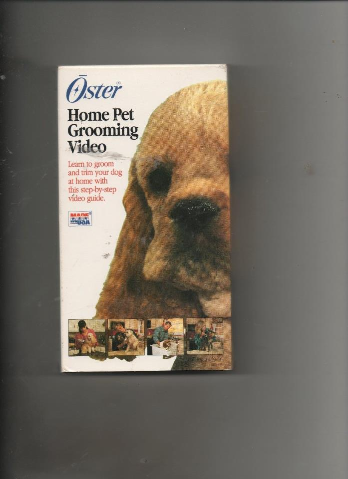 Oster Home Pet Grooming Step by Step Video Guide VHS Bathe Groom and Maintain 2