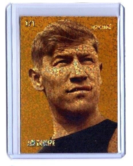 Jim Thorpe Olympic Track & Field Card - REFRACTOR - Rare Limited Serial 1/1
