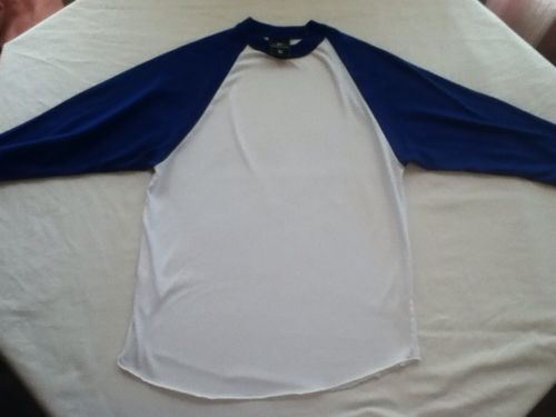 Easton-Small-blue & white 3/4 sleeve Baseball/Softball Shirt-Top