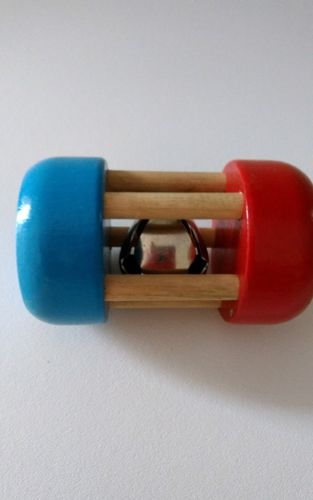 Montgomery Schoolhouse Hardwood Rattle Wooden Baby Toy Handcrafted in Vermont