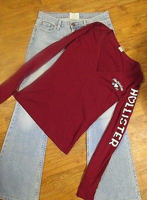 Women's / Jrs Lot of 2, American Eagle Jeans size 6 Short, Hollister top Medium