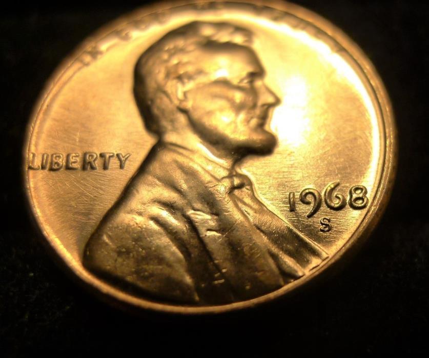 ? 1968 S Lincoln Penny RPM Die Scratch / Polish BU UNC