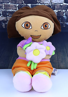 DORA THE EXPLORER Large Plush Doll Size 27 Inch Flower Kids Girls Soft Cuddly