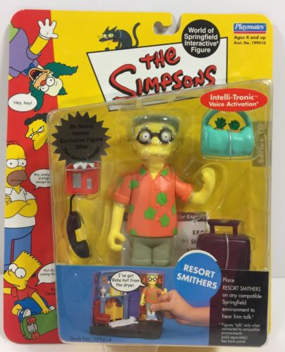 The Simpsons WOS Interactive Figure RESORT SMITHERS Playworks 2002 Series 10 NIP