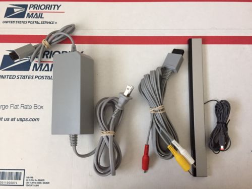 Genuine Nintendo Wii AC Power Adapter, AV Cable, & Sensor Bar Set OEM