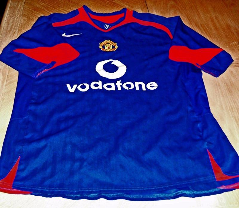 Mens M Medium NIKE Blue Vodafone Manchester United Football Jersey Shirt Soccer