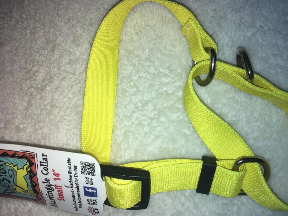Solid Yellow Martingale Dog Collar by Yellow Dog Design, Small 14