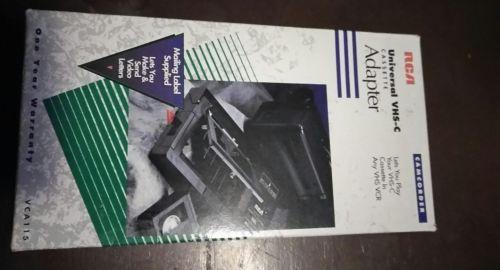 RCA VCA115 Universal VHS-C Cassette Adapter Motorized Excellent Condition, VHSC