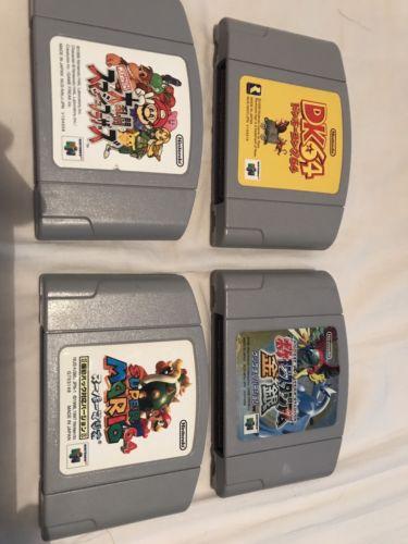 Lot (4) Japan Nintendo 64 N64 Mario Donkey Kong Pokemon Smash!