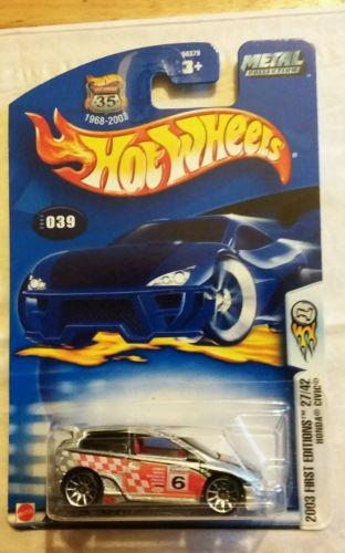 2003 hot wheels first editions honda civic