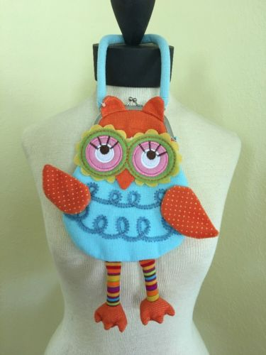 Child's Owl Purse Blue, Orange, Yellow, Green & Pink NWOT