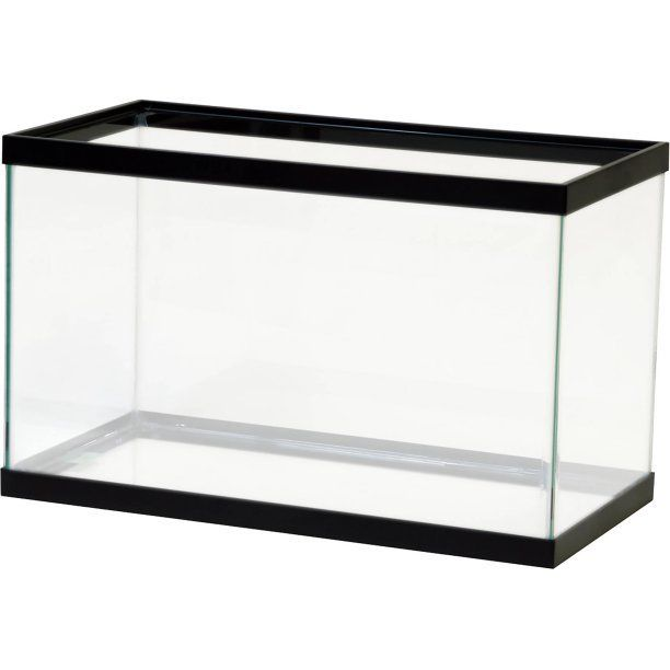 Fish Aquarium Empty Terrarium 10 Gallon Reptiles Aqua Water Starter Glass Tank
