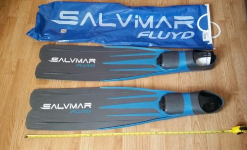 NEW SALVIMAR FLUYD Freediving Spearfishing Long Blade Distance Fins Size 10-11
