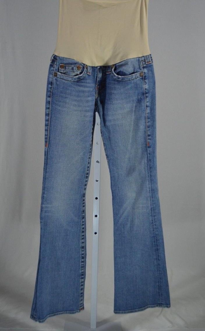 A Pea In The Pod True Religion Meduim Wash Boot Cut Maternity Jeans Sz 28  A4