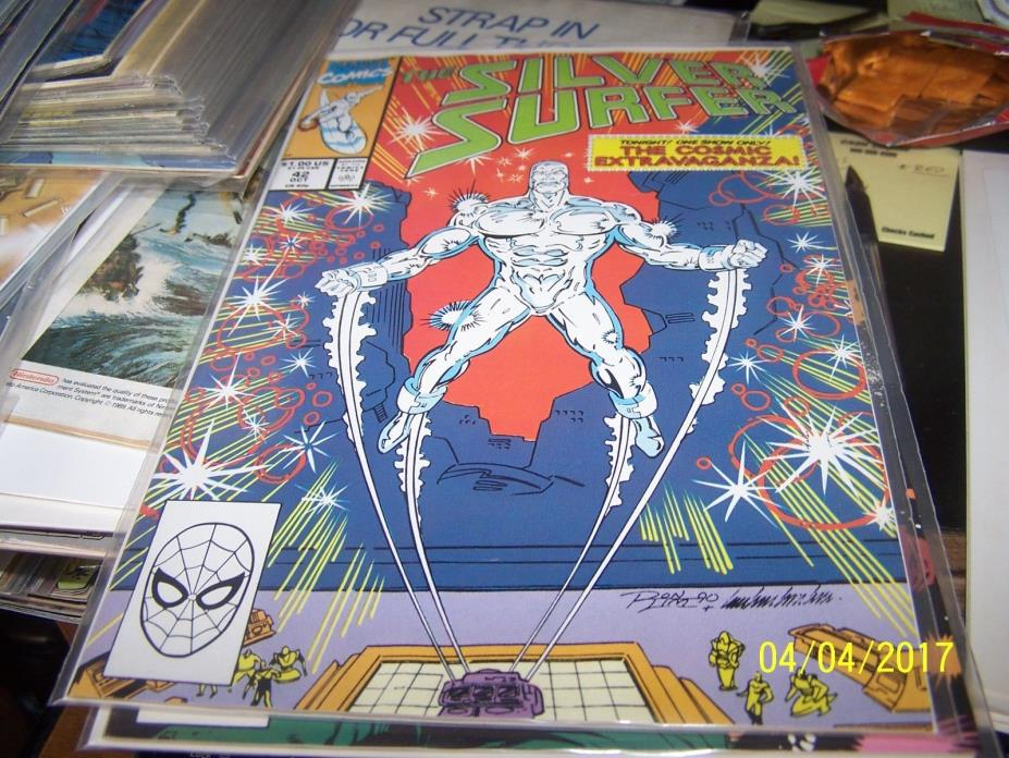 Silver Surfer comic # 42 (Oct 1990, Marvel) cosmic extravaganza