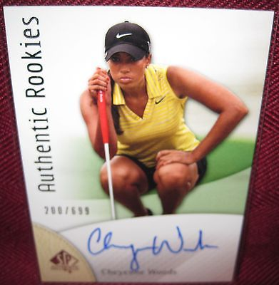 2014 SP AUTHENTIC ROOKIES GOLF AUTOGRAPH CARD #88 CHEYENNE WOODS 200/699