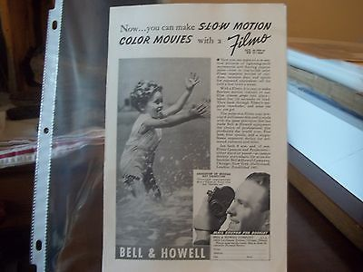 vintage print ad, 1938 Bell & Howell Filmo