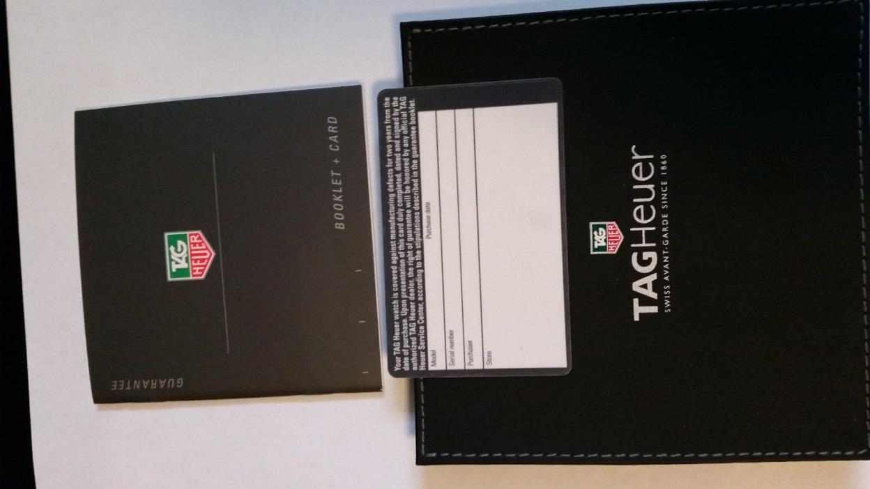 Tag Heuer International Guarantee Card and Booklet Leather Pouch