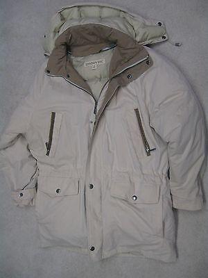 London Fog designer hooded winter coat excellent condition size L long